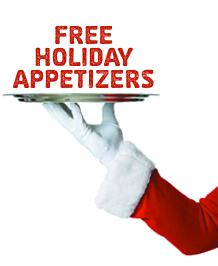 Complimentary Appetizers for your Holiday Party