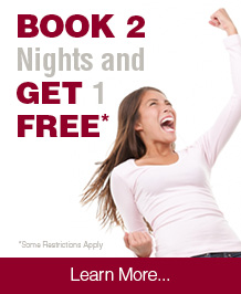 Book 2 Nights, Get 1 Night Free